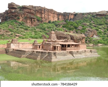 Bhutanatha Group of temples at Badami, Karnataka, India. These shrines were built on 7th or 8th century during Kalyani Chalukya dynasty.