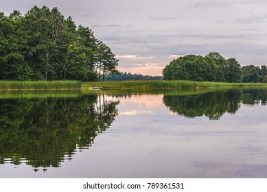 Biale Lake in Masuria Lakeland region of Poland