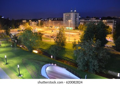 Bialystok by summer night, Podlasie, Poland