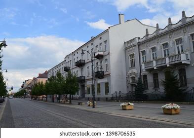 Bialystok downtown in summer, Podlasie, Poland