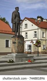 BIALYSTOK. POLAND. 26 JUIY 2014 : Monument  to Jozef Pilsudski in Bialystok. Poland