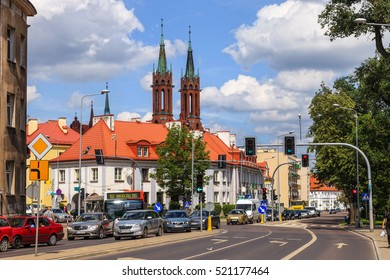 BIALYSTOK, POLAND - JULY 13, 2012: City life and rush hour traffic in Bialystok, Poland. Bialystok is the largest city in northeastern Poland and the capital of the Podlaskie Voivodeship.