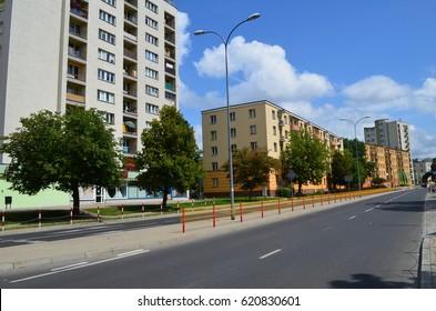 Bialystok in sunny summer, Podlasie, Poland