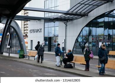 Bialystok/Poland February 12, 2019 New Bus Station in Białystok