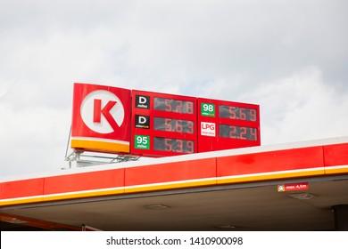 Bialystok/Poland May 29, 2019, Circle K Gas Station