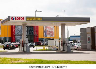 Bialystok/Poland May 29, 2019 LOTOS gas station