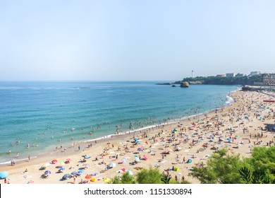 Biarritz beach, Basque country of France.