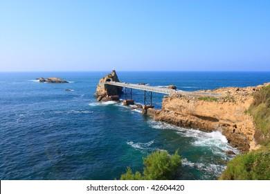 Biarritz, Rocher de la Vierge (Pays Basque,Aquitaine, France)