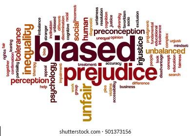 Biased word cloud concept