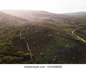 The Bibbulman Track - a remote walking trail from Kalamunda to Albany. One of the longest walking trails in the world. This is the end of the trail in Albany, Western Australia. Aerial drone photo.