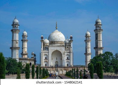 The Bibi Ka Maqbara at Aurangabad India. It was commissioned in 1660 by the Mughal emperor Aurangzeb in the memory of his first wife
