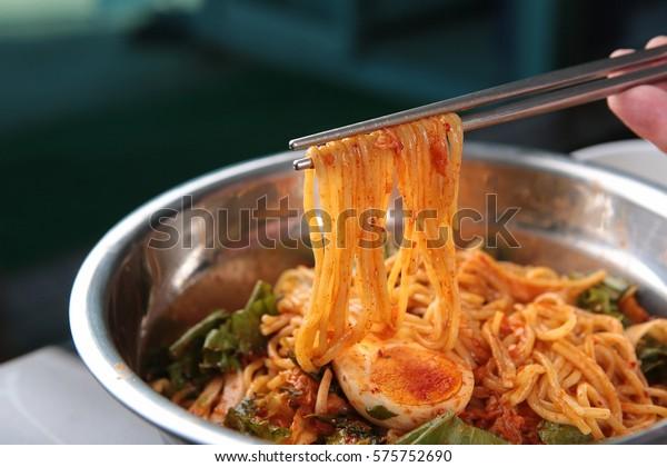bibim noodlekorea traditional mix spicy noodle soup