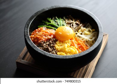 Bibimbap rice stone bowl,stone-roasted bibimbap