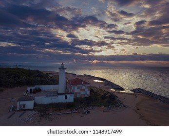 Bibione / Italy - June 16th,2018: Lighthouse on the Adriatic riviera,in the early morning