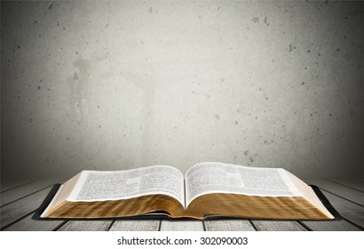 Bible, Book, Open.