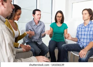 Bible Group Praying Together
