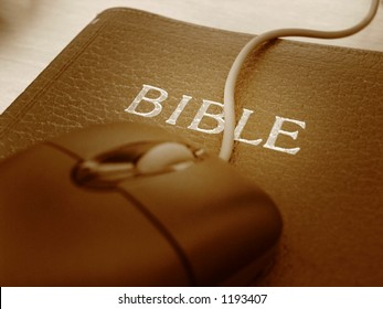 A Bible as a mousepad - christian values as the basis for modern IT technology handling.