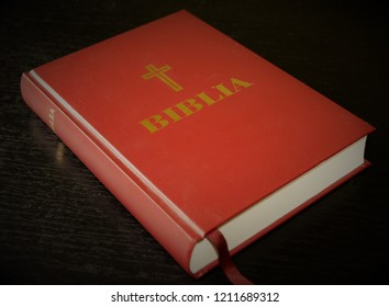 the Bible on a black background