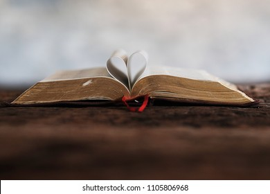 The Bible on the table.   - Shutterstock ID 1105806968