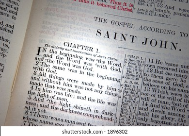 A bible opened to John Chapter one.