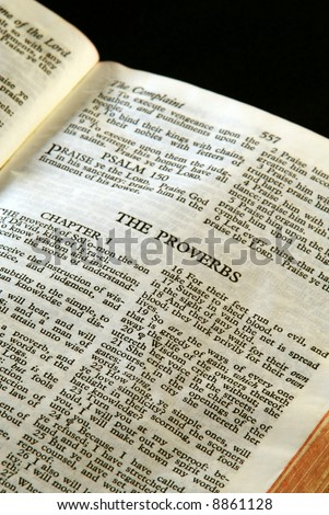 Bible Series Close Detail Antique Holy Stock Photo (Edit Now