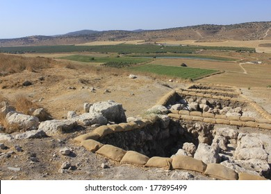 The Biblical City of Suqo in Judea Hills view to Valley of Elah, the place of David and Goliath Battle