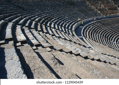 Biblical Ephesus Stadium. This is the large stadium in Ephesus where people rioted in anger to the message of St. Paul (see Acts 19:23-41). This Roman arena was home to gladiator fights.