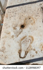 Biblical Ephesus. This footprint engraved in a road in Ancient Ephesus is believed to be an advertisement to a nearby brothel. If so, this may be the oldest surviving advertisement.