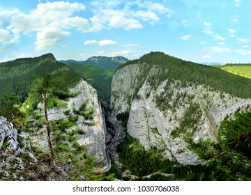 the Bicaz canyon seen from above