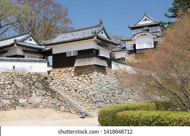 bicchu matsuyama castle in spring, Okayama prefecture