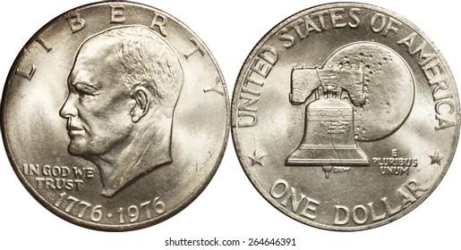 Bicentennial Eisenhower Dollar Dual Date