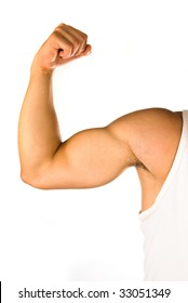 biceps on white background