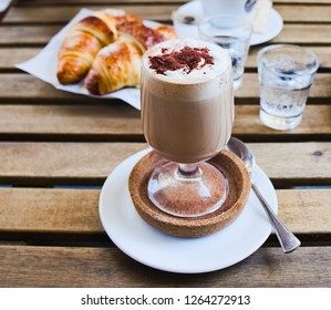 Bicerin is a traditional hot drink native to Turin, Italy, made of espresso, drinking chocolate, and whole milk