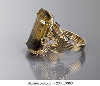 Bi-Color smokey Quartz ring