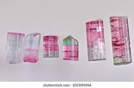 Bi-color Tourmaline crystals