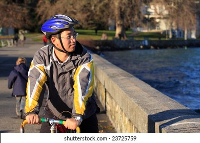 bicycle athlete in training