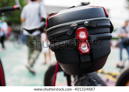 Bicycle Bag Behind Seat Stock Photo (Edit Now) 401324887