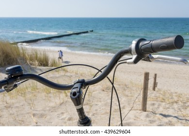 Bicycle at the baltic sea