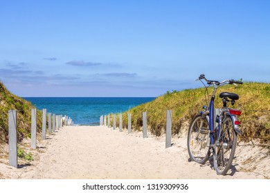 bicycle at the beach, Baltic Sea, Germany