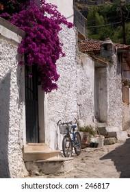 Bicycle and Bougainvillea, Fethiye, Turkey