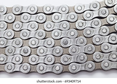 bicycle chain texture background closeup