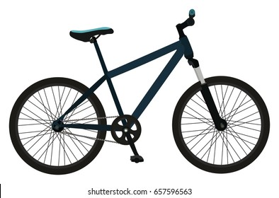 Bicycle Design Object on isolated background simple design icon symbol for sport