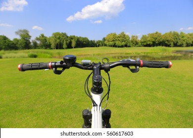 Bicycle. First person view