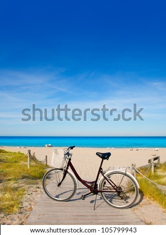 e6865a3df Bicycle Formentera Beach On Balearic Islands Stock Photo (Edit Now ...