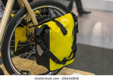 Bicycle Front Wheel Bags. Bicycle Touring. Front Panniers. Bicycle Accessory.