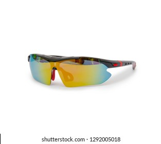 Bicycle glasses isolated on the white background