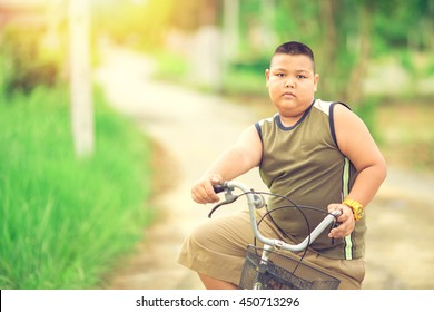 Bicycle is a good exercise for fat children to decrease the overweight or obese.