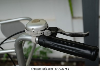Bicycle handle bar and bell.