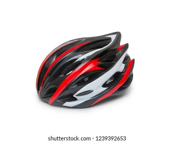 Bicycle helmet isolated on the white background