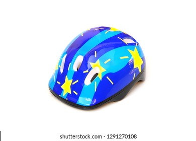 Bicycle helmet for kid isolated